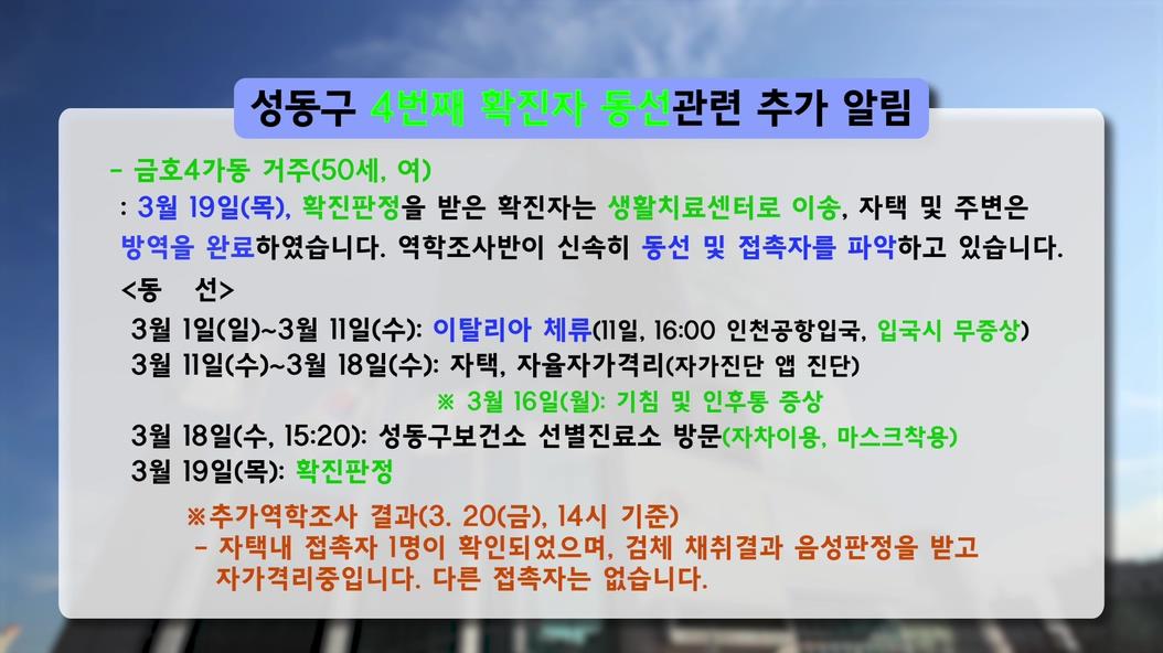 성동구 코로나19 4번...